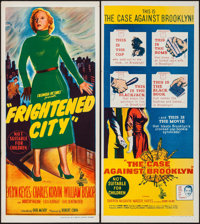"""The Frightened City & Other Lot (Columbia, 1962). Australian Daybills (2) (13"""" X 30""""). Crime. ... (Tot..."""