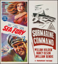 "Movie Posters:Adventure, Sea Fury & Others Lot (BEF, 1960). Australian Daybills (3) (13""X 30""). Adventure.. ... (Total: 3 Items)"