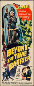 "Movie Posters:Science Fiction, Beyond the Time Barrier (American International, 1959). Insert (14"" X 36""). Science Fiction.. ..."