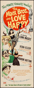 "Movie Posters:Comedy, Love Happy (United Artists, 1949). Insert (14"" X 36""). Comedy.. ..."