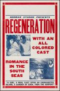 "Movie Posters:Black Films, Regeneration (Norman, 1923). One Sheet (27"" X 41""). Black Films....."