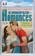 Golden Age (1938-1955):Romance, Campus Romances #3 (Avon, 1950) CGC FN+ 6.5 Off-white to whitepages....