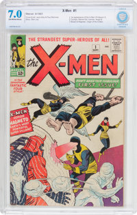 X-Men #1 (Marvel, 1963) CBCS FN/VF 7.0 Off-white to white pages