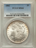 Morgan Dollars: , 1882 $1 MS66 PCGS. PCGS Population: (390/9). NGC Census: (215/8).CDN: $1,525 Whsle. Bid for problem-free NGC/PCGS MS66. Mi...