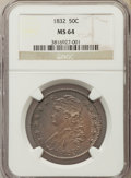 Bust Half Dollars: , 1832 50C Small Letters MS64 NGC. NGC Census: (74/33). PCGSPopulation: (88/14). CDN: $3,100 Whsle. Bid for problem-free NGC...