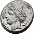 Ancients:Greek, Ancients: SICILY. Syracuse. Agathocles (317-289 BC). AR tetradrachm(26mm, 16.83 gm, 4h). NGC AU 5/5 - 3/5....