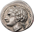 Ancients:Greek, Ancients: CRETE. Cnossus. Ca. 280-270 BC. AR drachm (20mm, 4.88 gm,12h). Choice VF, smoothing....