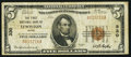 National Bank Notes:Maine, Lewiston, ME - $5 1929 Ty. 1 The First NB Ch. # 330. ...
