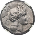 Ancients:Greek, Ancients: LUCANIA. Thurium. Ca. 350-300 BC. AR distater (26mm,15.68 gm, 11h). NGC MS ★ 5/5 - 4/5....