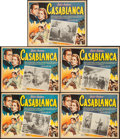"Movie Posters:Academy Award Winners, Casablanca (Peliculas Agrasanchez, S.A., R-1950s). Mexican Lobby Cards (5) (12.25"" X 16"").. ... (Total: 5 Items)"
