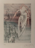 Prints:Contemporary, Wifredo Lam (1902-1982). Untitled. Etching in colors. 10-1/2x 7 inches (26.7 x 17.8 cm) (image). Ed. 44/50. Signed and ...
