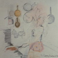 Larry Rivers (1925-2002) Kitchen, 1981-86 Lithograph in colors 12 x 12 inches (30.5 x 30.5 cm) (s