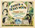 "Movie Posters:Western, Under a Texas Moon (Warner Brothers, 1930). Half Sheet (22"" X28"").. ..."