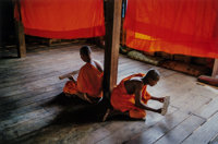 Steve McCurry (American, b. 1950) Novice Monks Studying, Monastery, Angkor Wat, 1999 Dye coupler, 20
