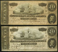 Confederate Notes:1864 Issues, T67 $20 1864 PF-13; PF-35 Cr. 513; Cr. 535.. ... (Total: 2 notes)