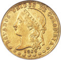 Colombia, Colombia: Republic gold 20 Pesos 1869-MEDELLIN MS64 NGC,...