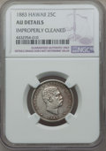 Coins of Hawaii , 1883 25C Hawaii Quarter -- Improperly Cleaned -- Details NGC. AU.NGC Census: (33/1185). PCGS Population: (98/1664). CDN: $...