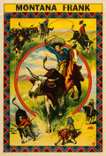 "Movie Posters:Western, Montana Frank Rodeo (Riverside, 1910). Poster (28"" X 41"").. ..."