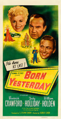 "Born Yesterday (Columbia, 1950). Three Sheet (41.5"" X 79.5"")"