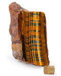 Lapidary Art:Carvings, Tiger's Eye. South Africa. 6.69 x 3.23 x 2.76 inches(17.00 x 8.20 x 7.00 cm). ...