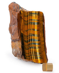 Tiger's Eye South Africa 6.69 x 3.23 x 2.76 inches (17.00 x 8.20 x 7.00 cm)
