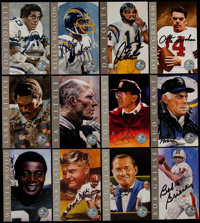 "1998 Football Hall of Fame ""Ron Mix"" Platinum Signature Series Signed Card Complete Set with Original Box (116..."