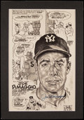 Baseball Collectibles:Others, Joe DiMaggio Signed Comic Display....