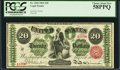 Large Size:Legal Tender Notes, Fr. 126b $20 1863 Legal Tender PCGS Choice About New 58PPQ.. ...
