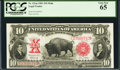 Large Size:Legal Tender Notes, Fr. 121m $10 1901 Mule Legal Tender PCGS Gem New 65.. ...