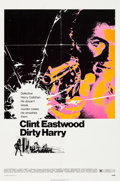 "Movie Posters:Crime, Dirty Harry (Warner Brothers, 1971). One Sheet (27"" X 41"") BillGold Artwork.. ..."