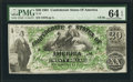 Confederate Notes:1861 Issues, T17 $20 1861 PF-1 Cr. 99.. ...
