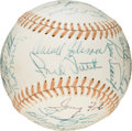 Baseball Collectibles:Balls, 1976 American League All-Star Team Signed Baseball with President Gerald Ford, PSA/DNA 8.5....