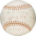 Baseball Collectibles:Balls, 1976 National League All-Star Team Signed Baseball with PresidentGerald Ford. . ...