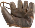 Baseball Collectibles:Others, 1940's Cookie Lavagetto Game Used Fielder's Glove. ...
