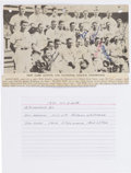 Baseball Collectibles:Photos, 1936 New York Giants Multi-Signed Photograph with Ott.
