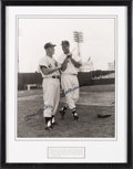 Baseball Collectibles:Photos, 1990's Mickey Mantle & Ted Williams Signed UDA OversizedPhotograph, PSA/DNA Mint 9. ...