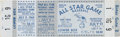 Baseball Collectibles:Tickets, 1960 All-Star Game Full Ticket. ...