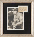 Baseball Collectibles:Photos, 1931 Babe Ruth Signed Photograph by George Burke....