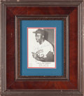 Baseball Collectibles:Photos, 1960's Jackie Robinson Signed Hall of Fame Premium.