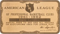 Basketball Collectibles:Others, 1961-62 ABL Annual Pass Issued to Dick Lezius....