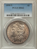 Morgan Dollars: , 1898-S $1 MS62 PCGS. PCGS Population: (694/3067). NGC Census: (481/1388). Mintage 4,102,000. ...