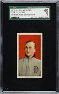 Baseball Cards:Singles (Pre-1930), 1909-11 T206 Polar Bear Ty Cobb (Red Portrait) SGC 60 EX 5....