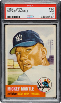 1953 Topps Mickey Mantle #82 PSA NM 7