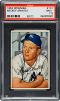 Baseball Cards:Singles (1950-1959), 1952 Bowman Mickey Mantle #101 PSA NM+ 7.5....