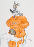 Animation Art:Production Drawing, Virgil Ross - Bugs Bunny and Gossamer Drawing (Warner Brothers, c.1990s). ...