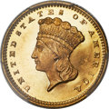 Proof Gold Dollars, 1860 G$1 PR65 Cameo PCGS....