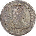 Early Quarters, 1796 25C B-2, R.3 -- Repaired -- PCGS Genuine. VF Details....