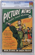 """Golden Age (1938-1955):Non-Fiction, Picture News #3 Davis Crippen (""""D"""" Copy) pedigree (Lafayette StreetCorp., 1946) CGC VF/NM 9.0 Off-white to white pages...."""