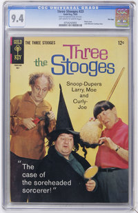 Three Stooges #23 File Copy (Gold Key, 1965) CGC NM 9.4 off-white to white pages