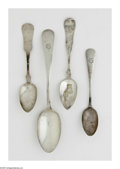 Other:American, A COLLECTION OF AMERICAN SILVER SPOONS. Mark of Gorham, Providence,RI; and various other makers, c.1870. The group compri... (Total:24 )